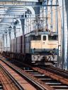 専貨B第5593列車 EF65 1054[新]-コキ8両@南流山〜三郷 2010/05/15 14:19