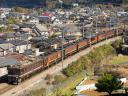 臨客第9525列車 EF64 1001[高]-12系7連[新ニイ]<ばんえつ物語>@初狩〜笹子 2014/11/15 12:16