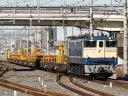 臨工第9866列車 EF65 1115[田]-チキ10両<B>@吉川〜吉川美南 2015/01/23 11:19
